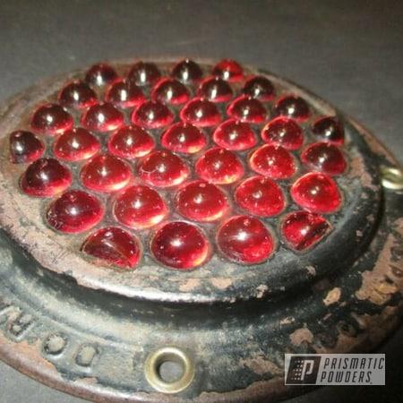 Powder Coating: Light Bezel,Ink Black PSS-0106,Vintage,Antiques,Automotive Parts,Vintage Light Bezel