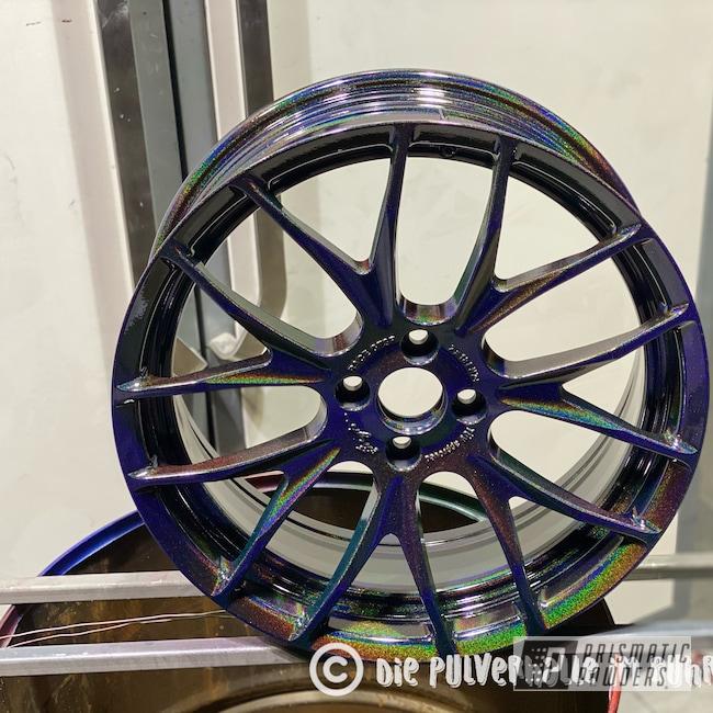 "Powder Coating: Wheels,Rainbows,Clear Vision PPS-2974,Custom Wheels,Rims,Aluminum,18"" Aluminum Rims,Mini,Aluminum Wheels,Prismatic Universe PMB-10367"