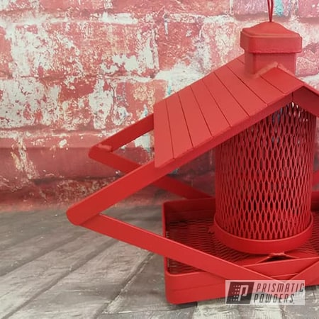 Powder Coating: Outdoor Yard,Bird Feeder,Burnt Red Texture PTS-6422,Feeder,Birds