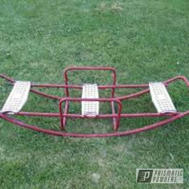 Powder Coating: Vintage Toy,Vintage,Vintage Teeter Totter,RAL 3002 Carmine Red,Childs Play,Playground