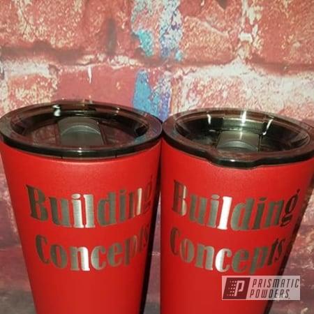 Powder Coating: Drinkware,Custom Cup,Tumblers,Stainless Tumbler,Burnt Red Texture PTS-6422,Custom Tumbler,Custom Logo