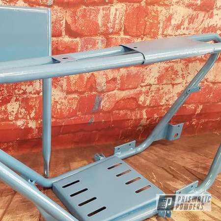 Powder Coating: Motorcycle Frame,Motorcycle Parts,Motorcycles,Baby Blue Sparkle PMB-4117