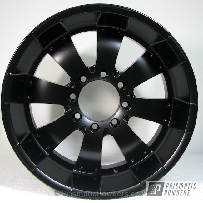 "Powder Coating: Wheels,Stone Black PSS-1168,Custom Wheels,20"" Wheels,powder coating,Powder Coated Wheels,powder coated,Prismatic Powders,Black 20"" Wheels,Black Wheels"