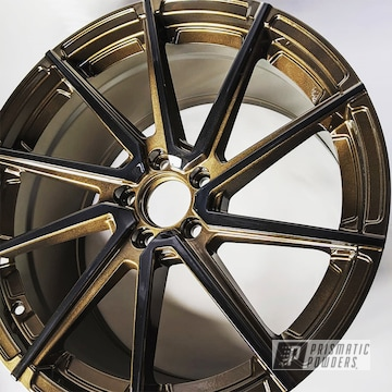 Powder Coated Audi Rims In Pmb-4124