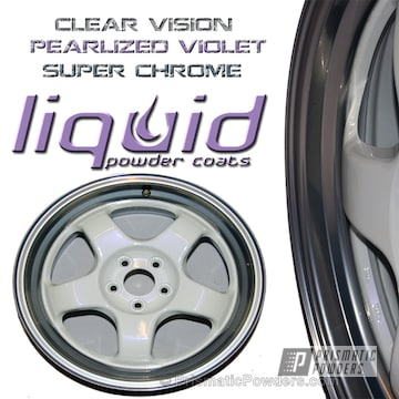 Base: Super Chrome Mid: Pearlized Violet Top: Clear Vision