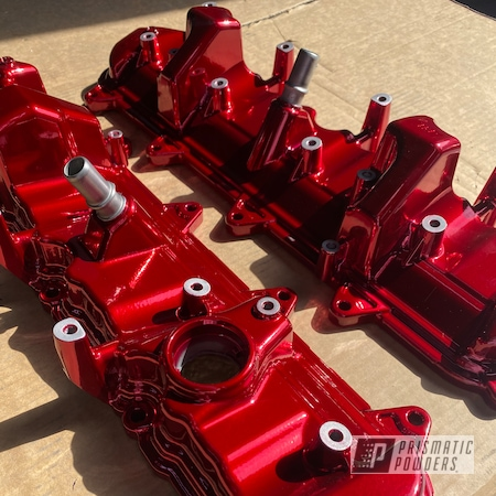 Powder Coating: Automotive,Turbo Parts,Chevrolet,Procharger,Red,SUPER CHROME II PSS-10300,powder coated,15,Soft Red Candy PPS-2888,Car Parts