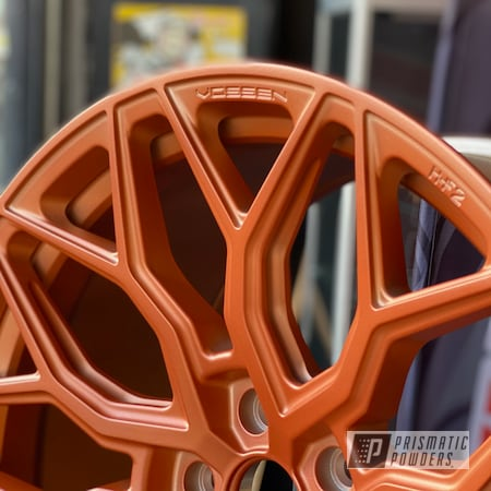 """Powder Coating: Wheels,POLISHED ALUMINUM HSS-2345,Vossen,20"""" Wheels,Aluminum Rims,Vossen HF2,Copper Coin PPB-7009,HF2,Aluminum Wheels"""