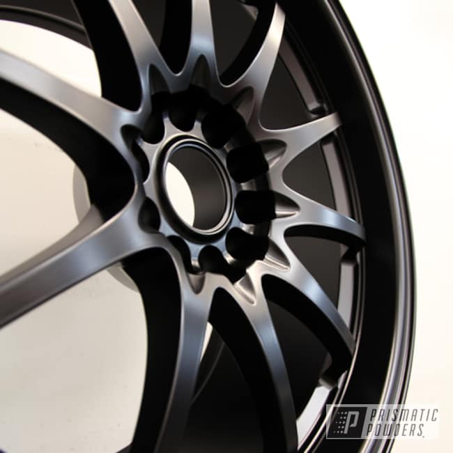 Powder Coating: Wheels,Stone Black PSS-1168,Custom Wheels,Black wheels,powder coating,Powder Coated Wheels,powder coated,Prismatic Powders