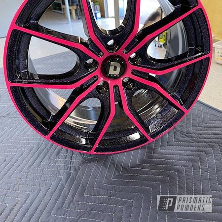 "Powder Coating: Wheels,Custom Wheels,17"" Aluminum Rims,Rims,Civic,Ink Black PSS-0106,Honda,Disco Nights PPB-7055,Two Tone Wheels,Two Tone,Sassy PSS-3063,Aluminum Wheels"