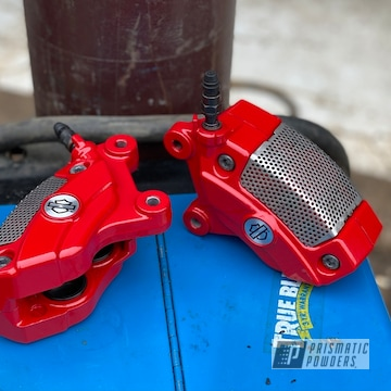 Powder Coated Harley Davidson Brake Calipers In Psb-6500