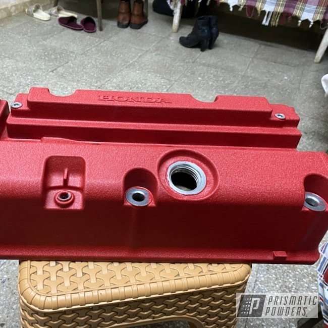 Powder Coating: Automotive,Wrinkle,Desert Red Wrinkle PWS-2762,Valve Cover