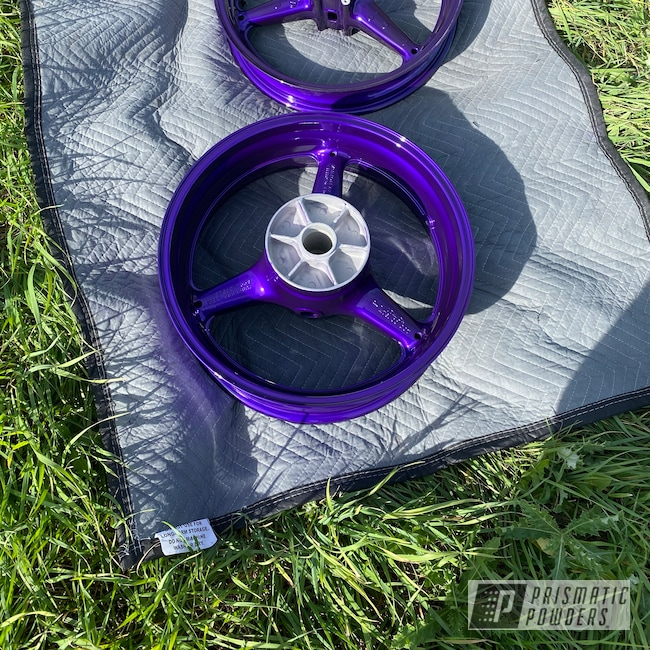 Powder Coating: Wheels,650ix,SUPER CHROME II PSS-10300,Purple,Candy,Candy Purple PPS-4442,Aluminum Wheels