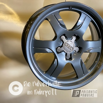 Powder Coated Audi Rims In Pmb-5969 And Pps-2974