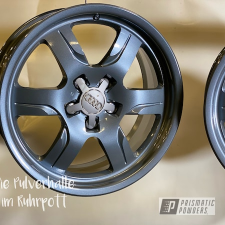 "Powder Coating: Wheels,Evo Grey PMB-5969,Clear Vision PPS-2974,Rims,17"" Aluminum Rims,Audi"