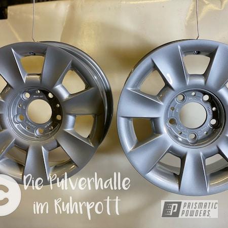 "Powder Coating: Wheels,BMW Silver PMB-6525,Clear Vision PPS-2974,Rims,BMW,15"" Aluminum Rims"