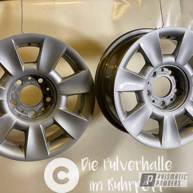 "Powder Coating: Wheels,BMW Silver PMB-6525,Clear Vision PPS-2974,Rims,BMW,15"" Aluminum Rims"
