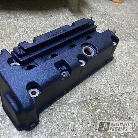 Powder Coating: Wetstone Midnight II PWB-2589,Automotive,Honda,Acura,Valve Cover,k20