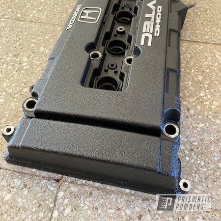 Powder Coating: Automotive,B18,Honda,Acura,Desert Nite Black PWS-2859,Valve Cover