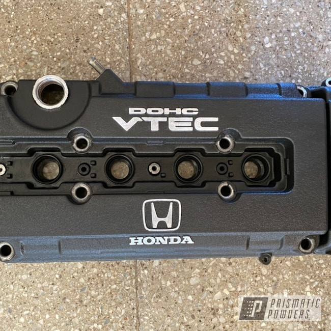 Powder Coating: Automotive,B18,Honda,Acura,Desert Nite Black PWS-2859,Valve Cover