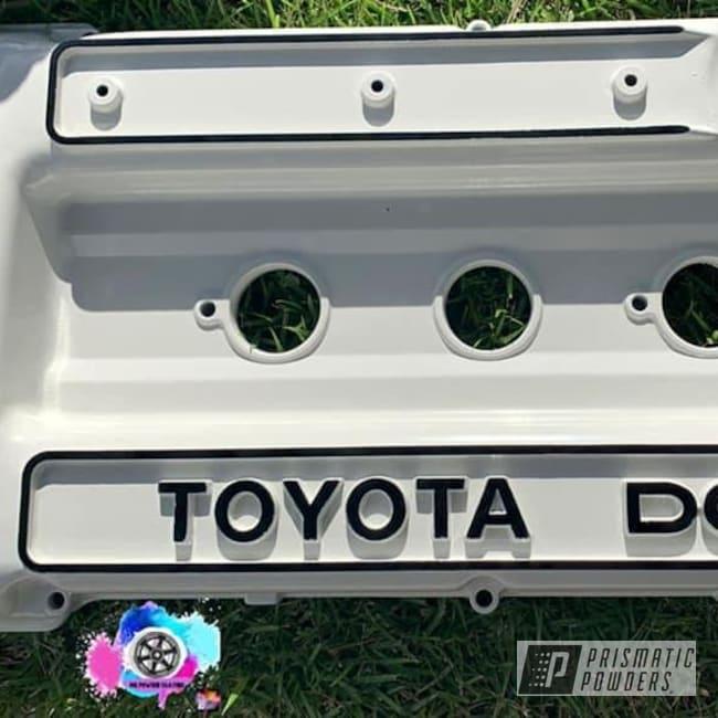 Powder Coating: Automotive,MUSHROOM WHITE USS-1814,Toyota,1.8,Valve Cover