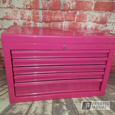 Powder Coating: Breast Cancer,Toolbox,Passion Pink PSS-4679,tool box,Pink,Craftsman Tool Box