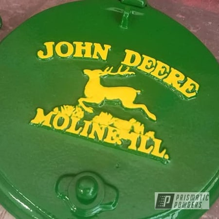 Powder Coating: Tractor Parts,Tractor Green PSS-4517,Vintage,RAL 1018 ZincYellow,John Deere