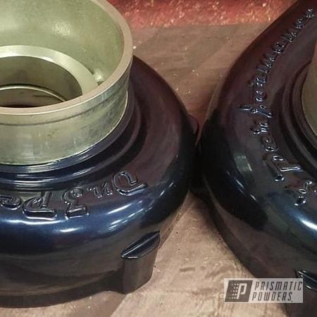 Powder Coating: Automotive,Turbo Housing,Turbo,Diamond Blue PMB-4042,Automotive Parts