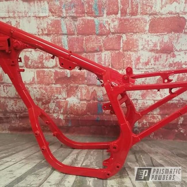 Powder Coating: Passion Red PSS-4783,ATV Frame,ATV,Motorcycle Frame,3 Wheeler