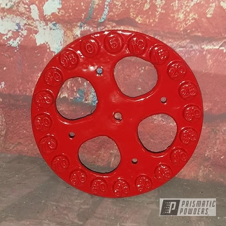 Powder Coating: Meter Dial,Gas Meter Dial,Vintage,RAL 3002 Carmine Red,Miscellaneous