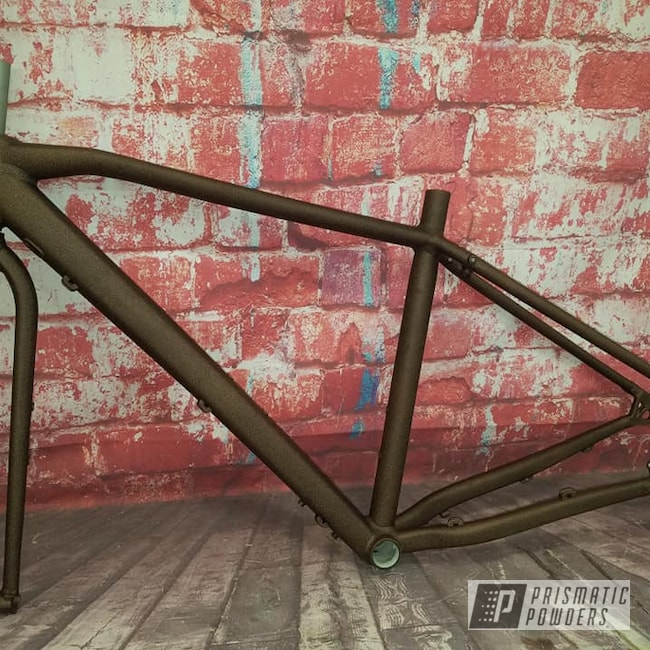 Powder Coating: Bicycle,Bicycle Frame,Splatter Copper PWB-2878
