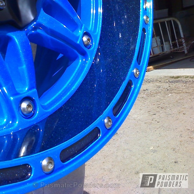 Powder Coating: Booty Blue PPB-2757,Wheels,Rubicon