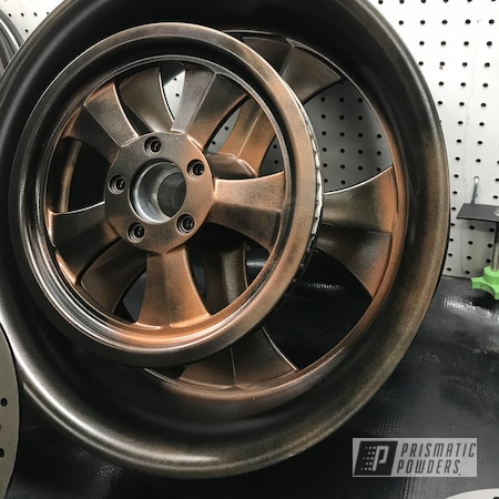 Powder Coating: HALLISTER BRONZE UMB-6536,Wheels,Harley Davidson,Fatboy,Motorcycle Wheels,Aluminum Wheels