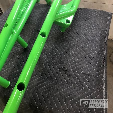 Powder Coating: Clear Vision PPS-2974,ATV,RAL 6018 Yellow Green,Bumpers,ATV Parts