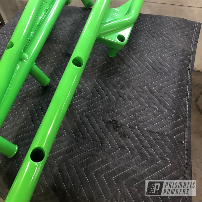 Powder Coating: Clear Vision PPS-2974,ATV,RAL 6018 Yellow Green,Bumpers,ATV Parts