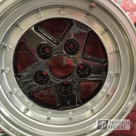 """Powder Coating: Wheels,Super Chrome,Ink Black PSS-0106,Aluminum Rims,SUPER CHROME II PSS-10300,15"""" Aluminum Rims,Two Tone Wheels,Automotive Rims,Aluminum Wheels,Clear Vision PPS-2974,2 Color Application,Rims,Two Tone"""