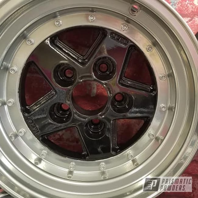 "Powder Coating: Wheels,Super Chrome,Ink Black PSS-0106,Aluminum Rims,SUPER CHROME II PSS-10300,15"" Aluminum Rims,Two Tone Wheels,Automotive Rims,Aluminum Wheels,Clear Vision PPS-2974,2 Color Application,Rims,Two Tone"