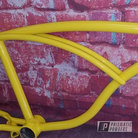 Powder Coating: Bike Frame,Vintage Schwinn,RAL 1018 ZincYellow,Bicycle Frame