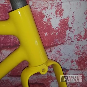 Powder Coated Bicycle Frame In Ral 1018