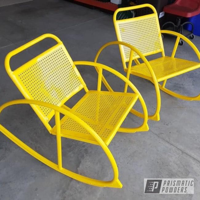 Powder Coating: Patio Furniture,RAL 1018 ZincYellow,Patio Chair,Vintage Rocker Chairs,vintage patio chair