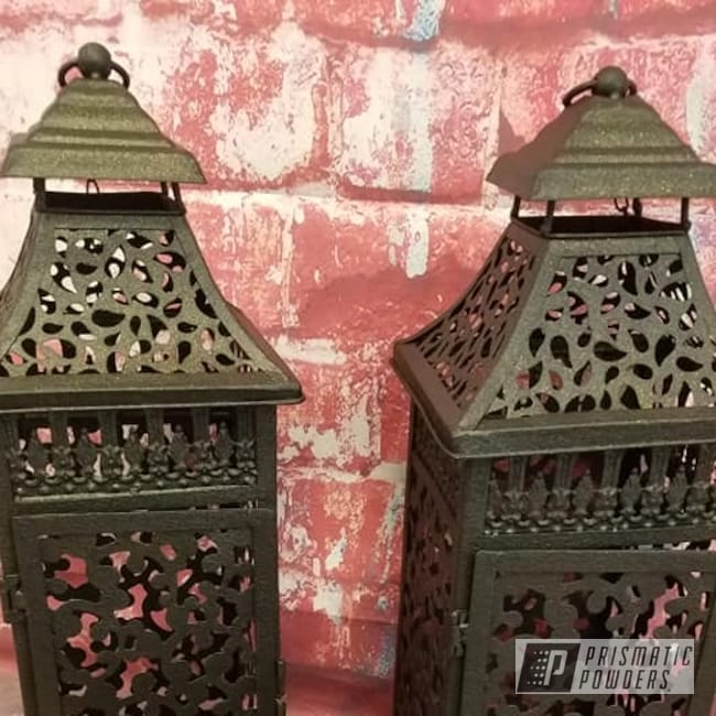 Powder Coating: Patio Decor,Lighting,lantern,DESERT GOLD ORE PWB-2772,Outdoor Decor,Lanterns