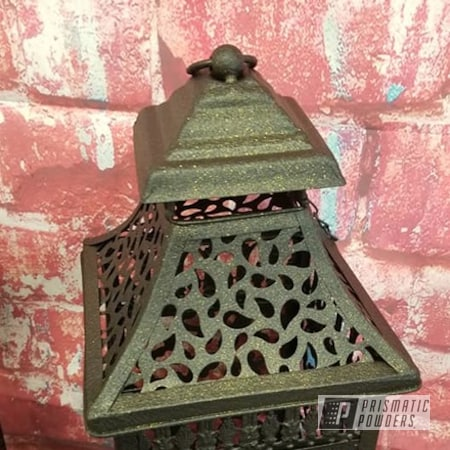 Powder Coating: Patio Decor,Lighting,lantern,DESERT GOLD ORE PWB-2772,Outdoor Decor,Lanterns