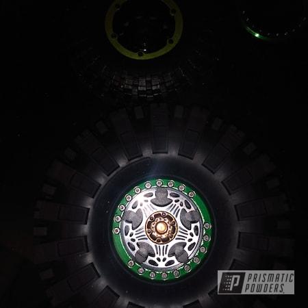 Powder Coating: Wheels,Alloy Wheels,Rims,Beadlock Ring,SUPER CHROME II PSS-10300,Psycho Green PPB-4658,Wheels and Accents,Hubs,Sable Brown II PPB-5972