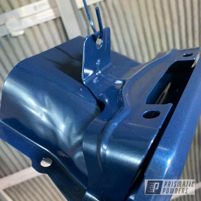 Powder Coating: Silverado,Automotive,Blue Zircon PMB-8063,Chevrolet,Exhaust,Exhaust Tips