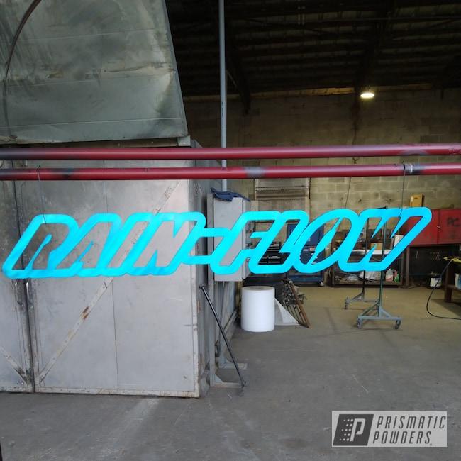 Powder Coating: Lite Anodized Blue PPB-6955,Metal Sign