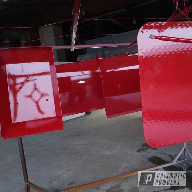 Powder Coating: Ruby Red EWB-9108,Custom Metal Work,Golden Fragment PPB-3084