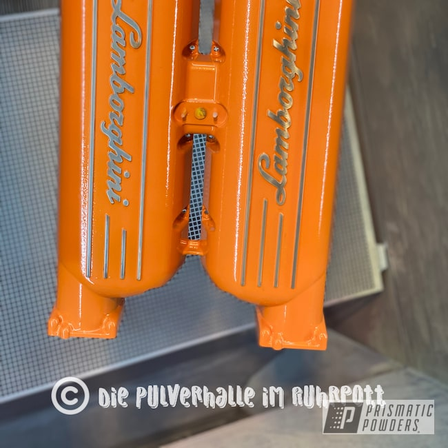 Powder Coating: Clear Vision PPS-2974,New Tucker Orange PMB-4209,Lamborghini,Engine Parts