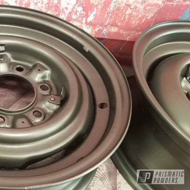Powder Coating: Wheels,Automotive,Evo Grey PMB-5969,Rims,Steel Wheels,Automotive Rims,Steel Rims,Aluminum Wheels