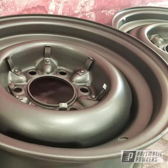 Powder Coating: Wheels,Automotive,Evo Grey PMB-5969,Rims,Steel Wheels,Automotive Rims,Steel Rims,Aluminum Wheels