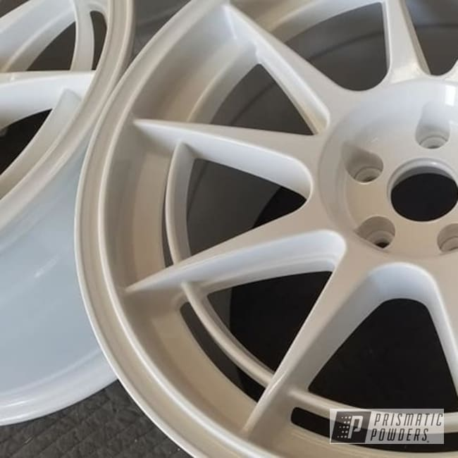 "Powder Coating: Aluminum Rims,18"" Aluminum Rims,Automotive Rims,Gloss White PSS-5690,Automotive Wheels,Aluminum Wheels"
