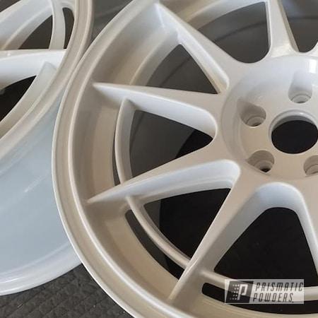 "Powder Coating: Aluminum Rims,18"" Aluminum Rims,Automotive Rims,Gloss White PSS-5690,Automotive Wheels,Aluminum Wheels"